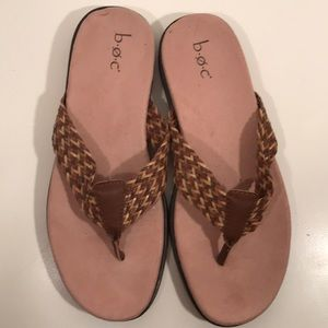 Never Worn b.o.c. Flip Flops Size 8 Brown/Tan